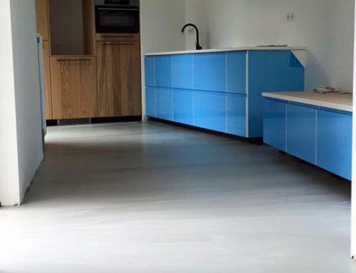 Betonlook gietvloer – Keuken – Den Bosch